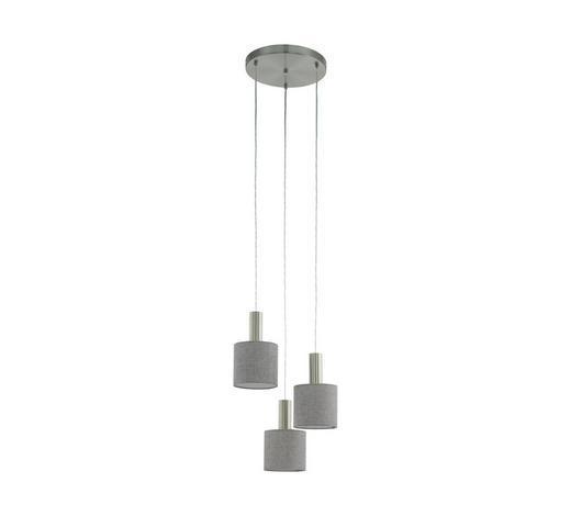 HÄNGELEUCHTE - Grau, Design, Textil/Metall (42/150cm)