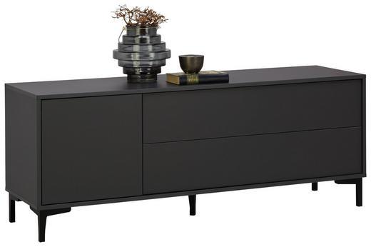 LOWBOARD - Graphitfarben/Weiß, Trend, Holzwerkstoff/Kunststoff (140/54/38cm) - Carryhome