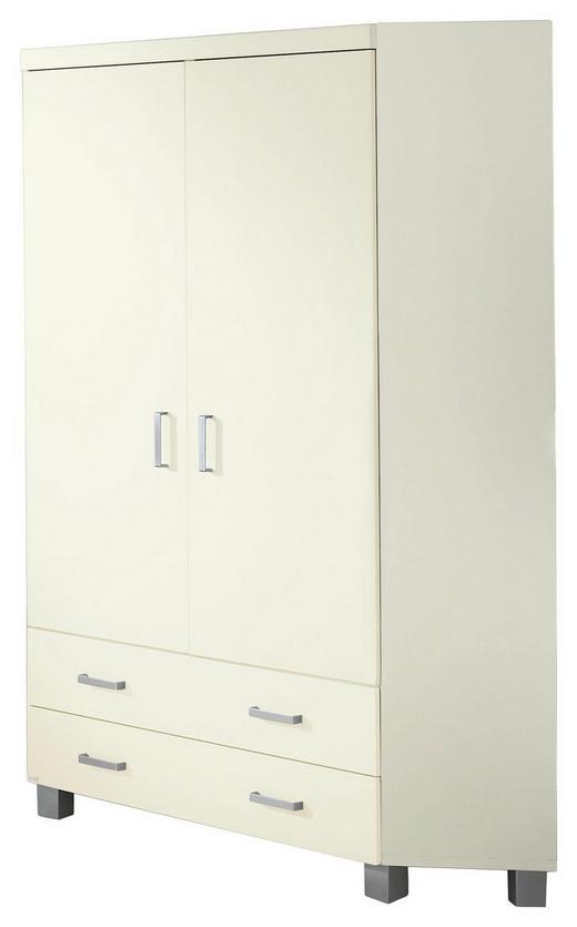 KLEIDERSCHRANK 2-türig Weiß - Silberfarben/Weiß, Design, Holzwerkstoff/Kunststoff (116,5/199/116,5cm) - Paidi