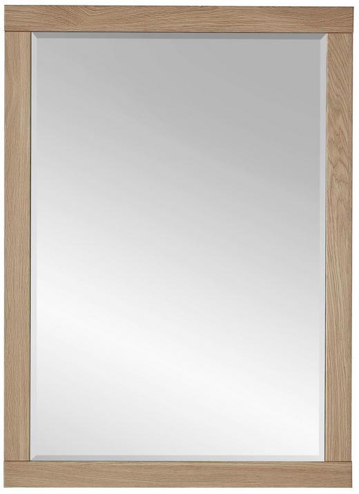 WANDSPIEGEL - Eichefarben, Natur, Glas/Holzwerkstoff (65/90/3cm)