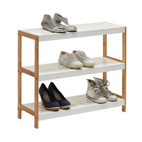 SKOHYLLA - vit/brun, Design, trä/träbaserade material (70/58,5/26cm) - Xora
