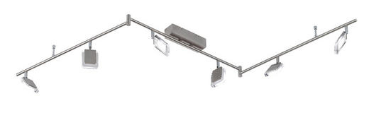 LED-STRAHLER - Nickelfarben, Design, Metall (150/19/20cm)