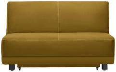 SCHLAFSOFA Currygelb - Currygelb/Schwarz, MODERN, Holz/Textil (145/90/96cm) - Novel