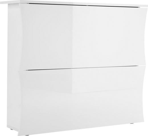 SCHUHSCHRANK Hochglanz, lackiert Weiß - Weiß, Design (100/82/27cm) - Voleo
