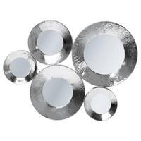 WANDSPIEGEL - Silberfarben, Trend, Glas/Metall (62/46/3,5cm) - Kare-Design