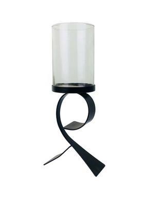 LJUSLYKTA - klar/svart, Klassisk, metall/glas (12,5/30,5/9cm) - Ambia Home
