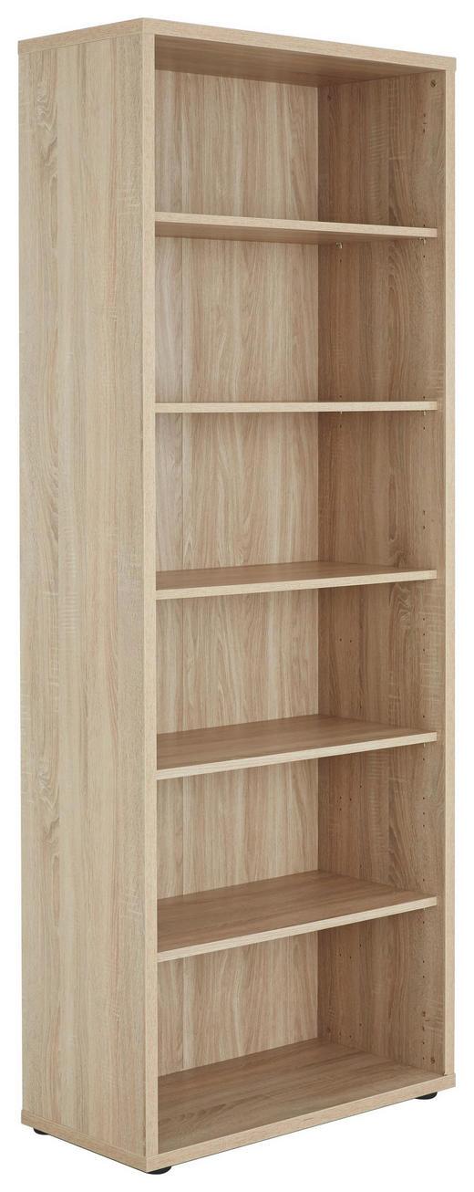 AKTENREGAL Sonoma Eiche - Schwarz/Sonoma Eiche, Design, Holzwerkstoff/Kunststoff (81,8/215,2/40cm) - Voleo