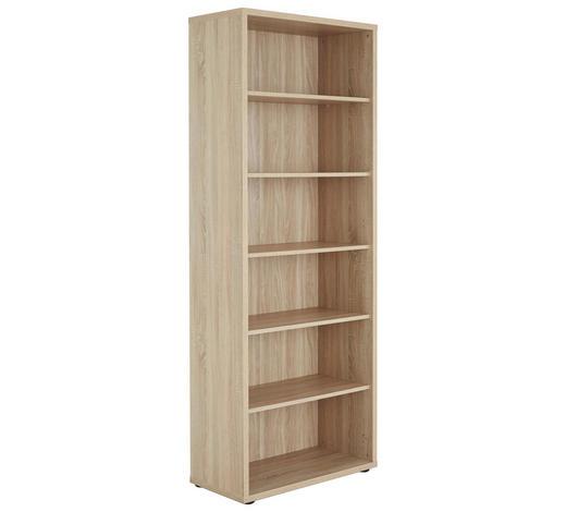 AKTENREGAL - Schwarz/Sonoma Eiche, KONVENTIONELL, Holzwerkstoff/Kunststoff (81,8/215,2/40cm) - Voleo