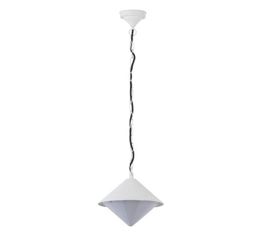 AUßENHÄNGELEUCHTE - Weiß, Design, Metall (26/58cm)