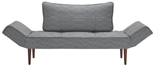 SCHLAFSOFA Grau - Dunkelbraun/Grau, Design, Holz/Textil (200/81/70cm) - Innovation