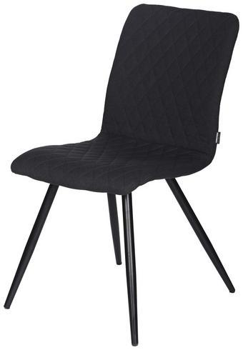 STOL, kovina, tekstil črna, temno siva - temno siva/črna, Moderno, kovina/tekstil (43/84,5/60,5cm) - Carryhome