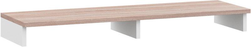 TV-AUFSATZ in Weiß, Eichefarben  - Eichefarben/Weiß, Design, Holzwerkstoff (124,4/12,2/38cm) - Xora