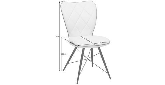 STUHL in Metall, Textil Schwarz - Schwarz, Design, Textil/Metall (49/90/61cm) - Hom`in