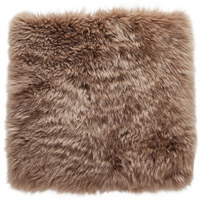 Schaffell Sitzkissen Taupe 34/34 cm  - Taupe, Natur, Fell (34/34cm) - Ambia Home