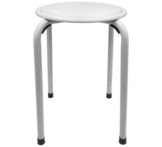 BADHOCKER Metall  - Weiß, Basics, Metall (37/44cm) - Sadena
