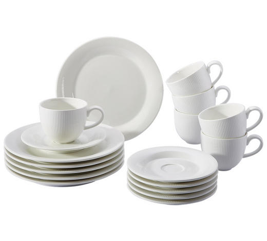 KAFFEESERVICE 18-teilig - Weiß, Basics, Keramik - Ritzenhoff Breker