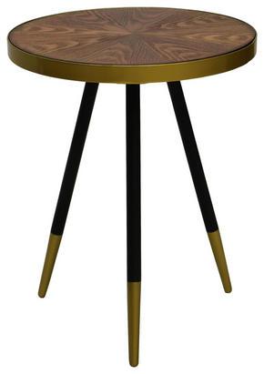 AVLASTNINGSBORD - valnötsfärgad/svart, Klassisk, metall/trä (44/55cm)