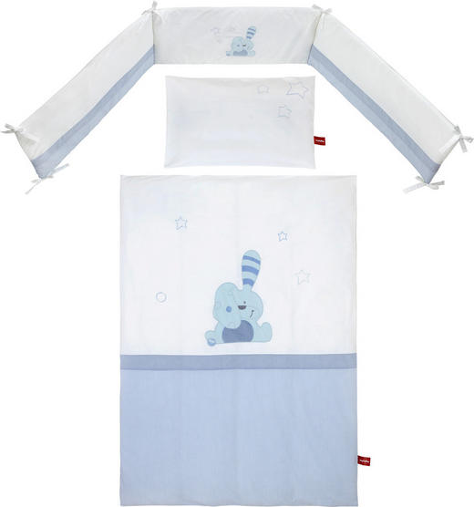 GITTERBETTSET Floppy Blau, Weiß - Blau/Weiß, Basics, Textil - My Baby Lou