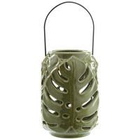 WINDLICHT - Grün, Trend, Keramik (12/17,8cm) - Ambia Home