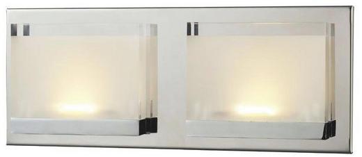 LED-DECKENLEUCHTE - Chromfarben, Design, Kunststoff/Metall (26/11/7cm)
