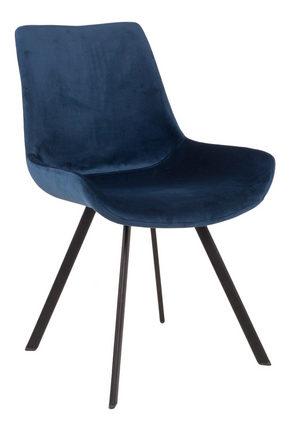 STOL - blå/svart, Design, metall/textil (55/85/62,5cm) - Xora