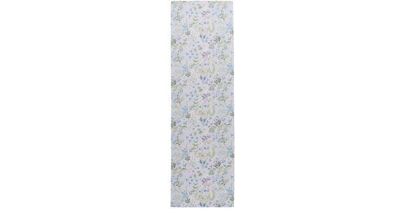 TISCHLÄUFER 40/140 cm   - Blau/Flieder, Trend, Textil (40/140cm) - Esposa