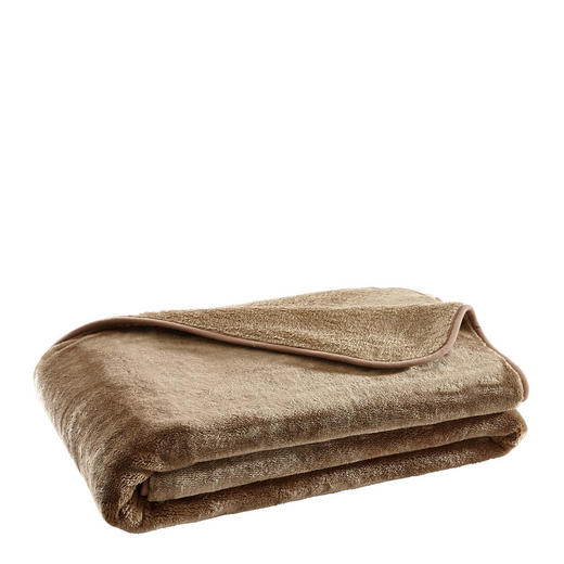 WOHNDECKE 130/170 cm Taupe - Taupe, Design, Textil (130/170cm) - Novel