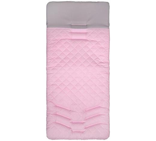 KINDERWAGENEINLAGE - Türkis/Rosa, Basics, Textil (40/80cm) - My Baby Lou