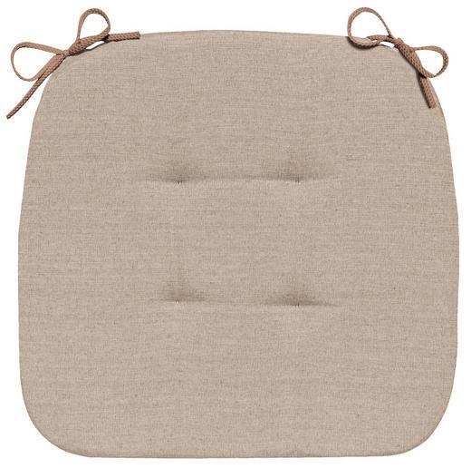 STUHLKISSEN Taupe 41/41/3,5 cm - Taupe, Basics, Textil (41/41/3,5cm) - Novel