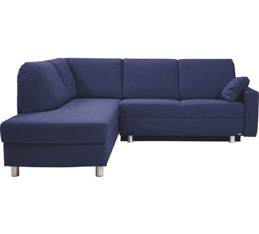WOHNLANDSCHAFT in Textil Blau  - Blau/Alufarben, KONVENTIONELL, Textil/Metall (208/226cm) - Sedda