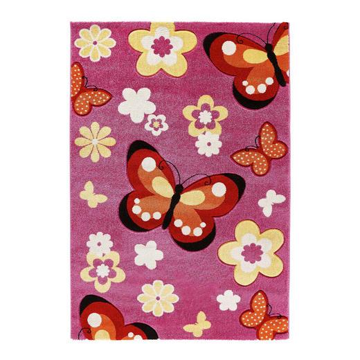 KINDERTEPPICH  133/133 cm  Rosa - Rosa, Textil/Weitere Naturmaterialien (133/133cm) - Ben'n'jen