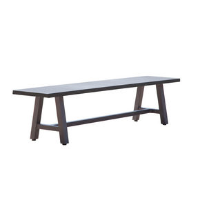 TRÄDGÅRDSBÄNK - grå/antracit, Modern, metall/plast (190/44/40cm) - Amatio