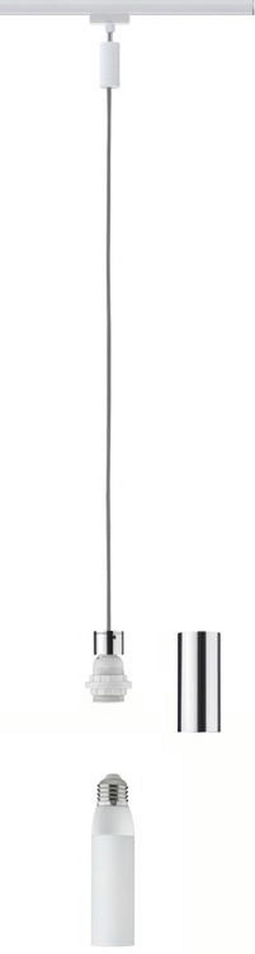 URAIL SCHIENENS.-HÄNGELEUCHTE - Chromfarben/Weiß, Design, Metall (150cm) - Paulmann