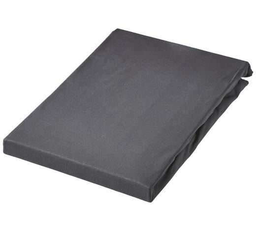SPLIT TOPPER Jersey Dunkelgrau bügelfrei - Dunkelgrau, Basics, Textil (200/220cm) - Schlafgut