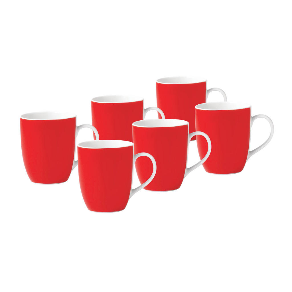 XXXLutz Kaffeebecherset 6-teilig keramik porzellan rot