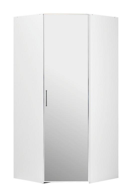 BEGEHBARER ECKSCHRANK Weiß 102/222/102 cm - Chromfarben/Weiß, Design, Holzwerkstoff/Metall (102/222/102cm) - Moderano