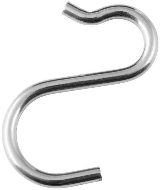 DOPPELHAKEN Silberfarben - Silberfarben, Basics, Metall (5cm) - HOMEWARE