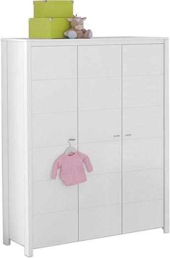 BABYKLEIDERSCHRANK Julia - Alufarben/Weiß, Trend, Holzwerkstoff/Metall (135/188/55cm) - My Baby Lou