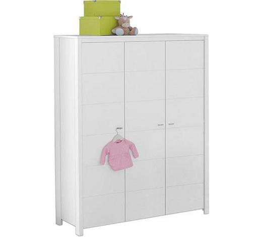 ORMAR ZA DJEČJU ODJEĆU - bijela/boje aluminija, Trend, drvni materijal/metal (135/188/55cm) - My Baby Lou