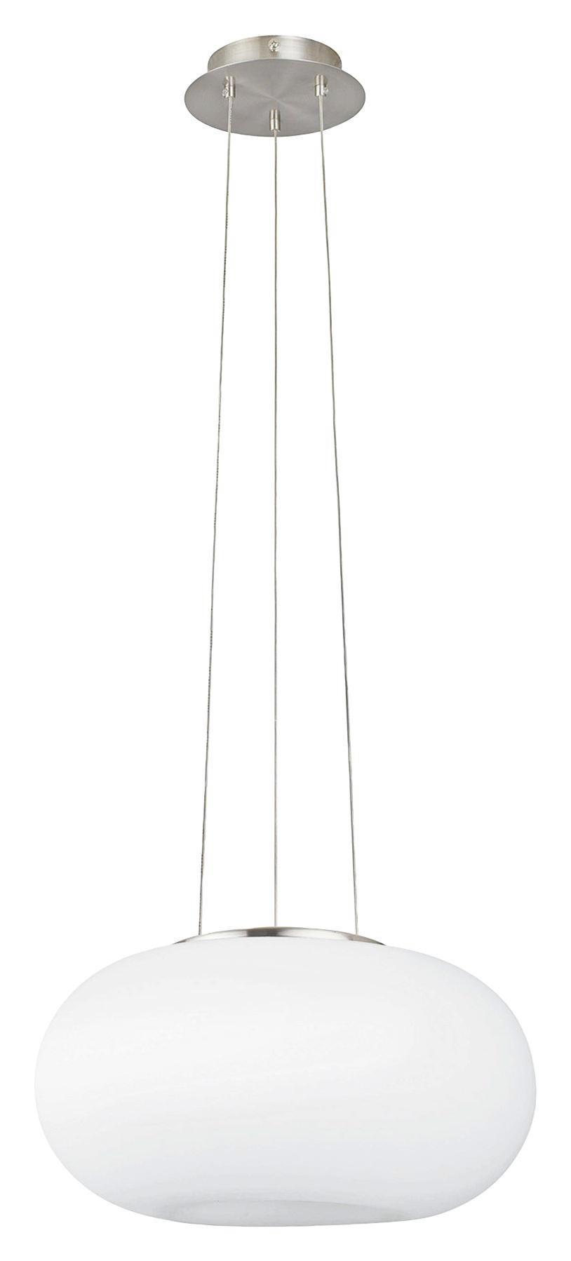 HÄNGELEUCHTE - Nickelfarben, KONVENTIONELL, Glas/Metall (35/110cm)