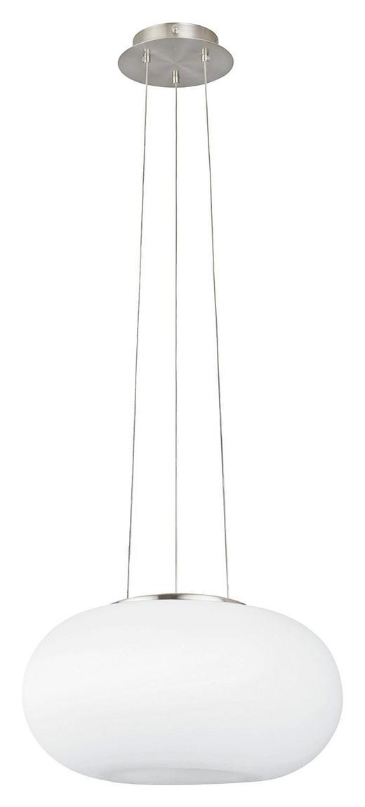 HÄNGELEUCHTE - Weiß/Nickelfarben, KONVENTIONELL, Glas/Metall (35/110cm)