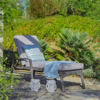 LEŽALJKA VRTNA - siva/svijetlo siva, Design, metal/tekstil (75/190cm) - Ambia Garden