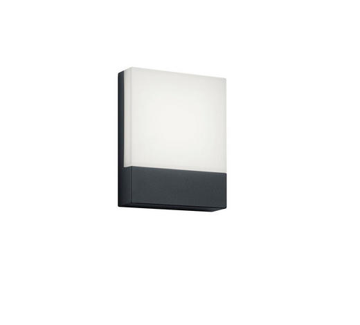 AUßENWANDLEUCHTE Anthrazit, Weiß  - Anthrazit/Weiß, Design, Kunststoff/Metall (20,0/16,0/4,5cm)