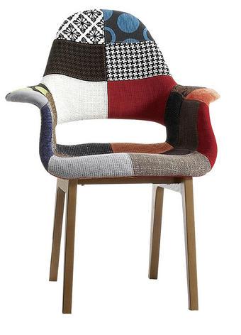 STOL, les, tekstil večbarvno - večbarvno, Design, tekstil/les (65/85/73cm) - Novel