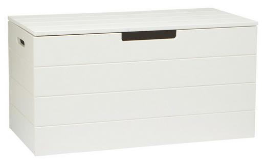 TRUHE Holz Kiefer massiv - Weiß, Design, Holz (80/42/42cm) - Carryhome