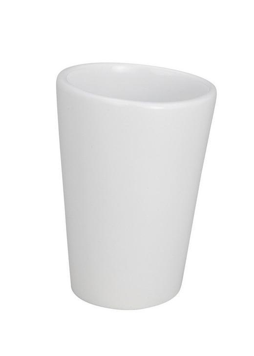 ZAHNPUTZBECHER - Weiß, Basics, Kunststoff (5/8cm)