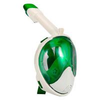 SCHNORCHEL-MASKE 1000 L/XL - Weiß/Grün, Trend, Kunststoff