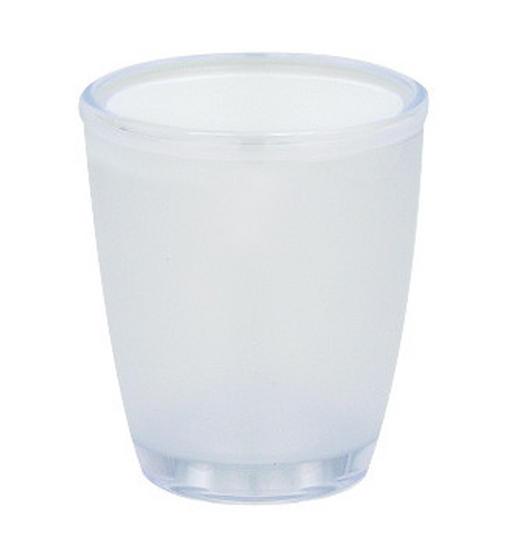ZAHNPUTZBECHER - Weiß, Basics, Kunststoff (8,,5/9,5cm) - Spirella