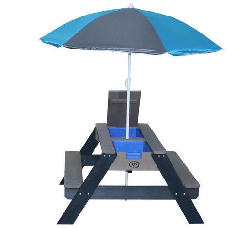 PICKNICKTISCH NICK - Blau/Anthrazit, KONVENTIONELL, Holz/Kunststoff (80/56/90cm)