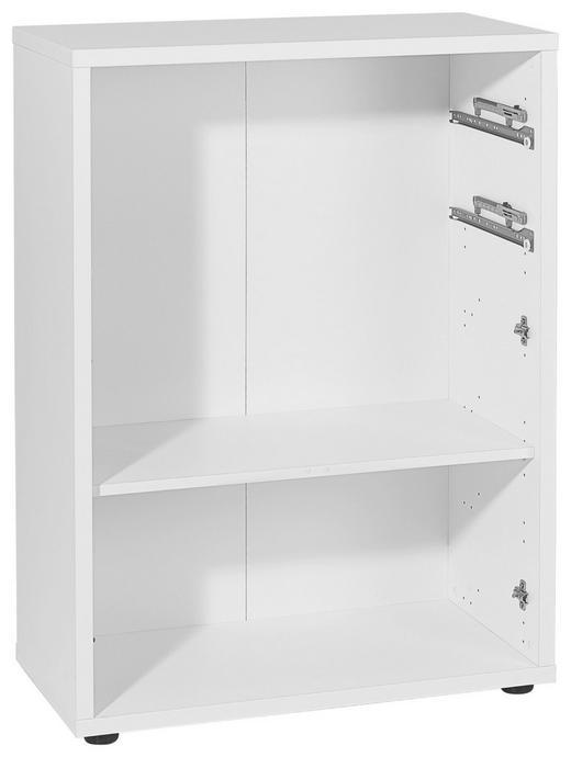 AKTENREGAL Weiß - Silberfarben/Weiß, Design, Holzwerkstoff/Kunststoff (81,8/110,5/40cm) - Voleo